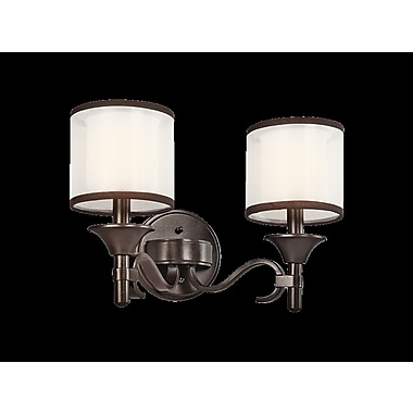 Darby Home Co Boswell 2-Light Vanity Light; Mission Bronze