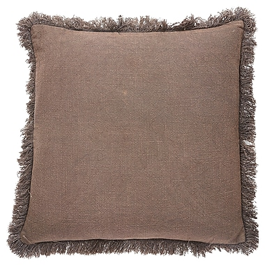 Darby Home Co Graham Cotton Throw Pillow; Graystone