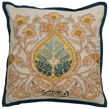 Darby Home Co Greenmeadow Damask Pattern Cotton Throw Pillow