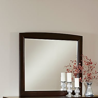Darby Home Co Bertram Dark Cherry Landscape Mirror; Merlot