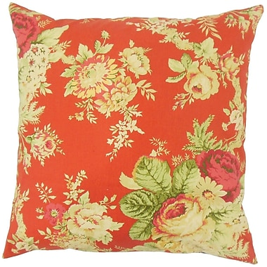 Darby Home Co Haydenville Floral Linen Throw Pillow Cover; Blue