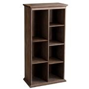 Darby Home Co Tillson Burnt Oak Display Shelf 60'' Cube Unit Bookcase