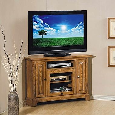 Darby Home Co Schueller Corner TV Stand; Light Oak