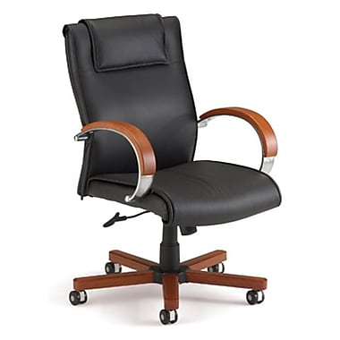 Darby Home Co Leather Executive Chair; Cherry