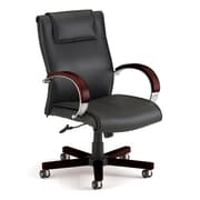 Darby Home Co Leather Executive Chair; Mahogany