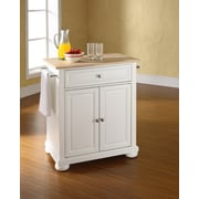 Darby Home Co Pottstown Kitchen Cart; White