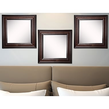 Darby Home Co Kavanaugh Square Walnut American Wall Mirror (Set of 3)