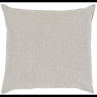 Darby Home Co Leadbetter 100pct Linen Throw Pillow Cover; 18'' H x 18'' W x 0.25'' D