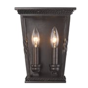 Darby Home Co Northfield 2-Light Wall Sconce; Etruscan Bronze