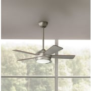 Darby Home Co Danesfield 42'' LED 5 Blade Fan; Brushed Nickel with Silver Blades