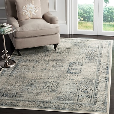 Darby Home Co Cyrus Green/Blue Area Rug; 6'7'' x 9'2''