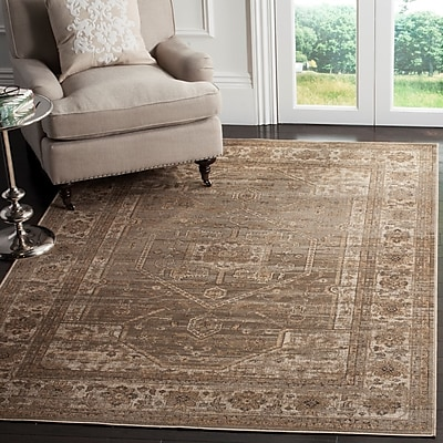 Darby Home Co Ercole Mouse Wool Area Rug; Rectangle 5'3'' x 7'6''