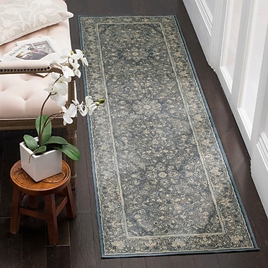 Darby Home Co Crestshire Blue Area Rug; Runner 2'2'' x 8'