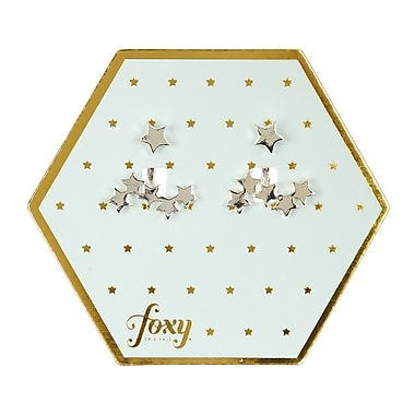 Foxy Originals Cosmic Earrings, Silver