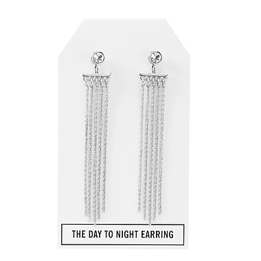 Foxy Originals Crystal Day to Night Earrings, Silver