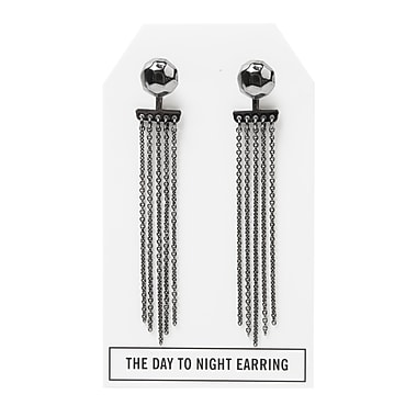 Foxy Originals Nugget Day to Night Earrings, Gunmetal