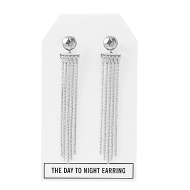 Foxy Originals Nugget Day to Night Earrings, Silver