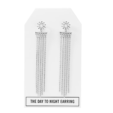 Foxy Originals Twilight Day to Night Earrings, Silver