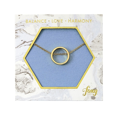 Foxy Originals Circle Harmony Necklace, Gold