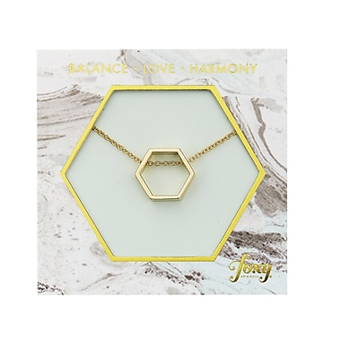 Foxy Originals Hexagon Harmony Necklace, Gold