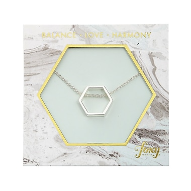 Foxy Originals Hexagon Harmony Necklace, Silver