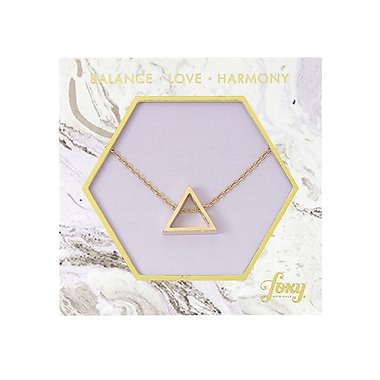 Foxy Originals Triangle Harmony Necklace, Gold