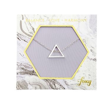 Foxy Originals – Collier avec pendentif triangulaire Harmony, argenté