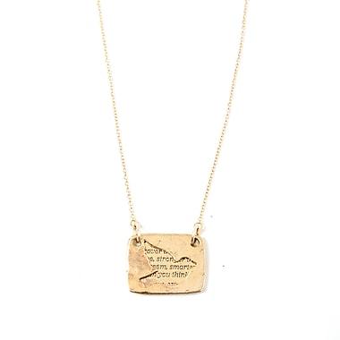 Foxy Originals Love Notes Necklace, Bird Gold