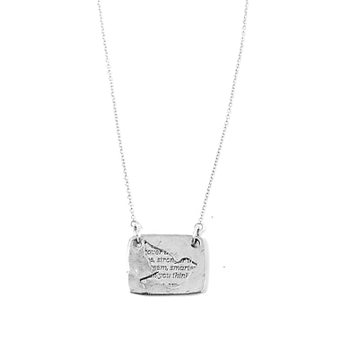Foxy Originals Love Notes Necklace, Bird Silver