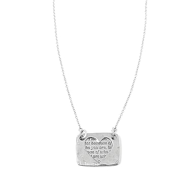 Foxy Originals – Collier de la collection Love Notes, cœur argenté