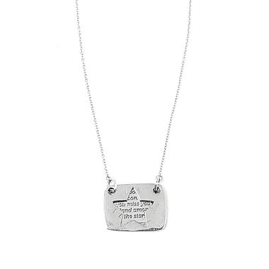 Foxy Originals Love Notes Necklace, Star Silver