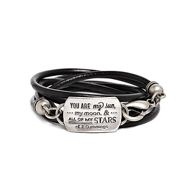 Foxy Originals Mantra Love Bracelet, Silver