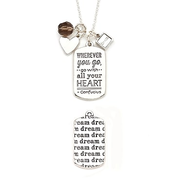 Foxy Originals Mantra Dream Necklace, Silver