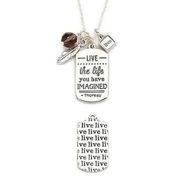 Foxy Originals Mantra Live Necklace, Silver