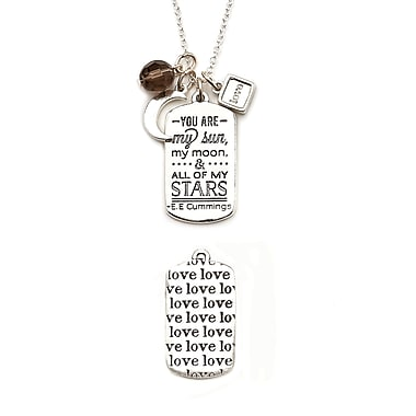 Foxy Originals Mantra Love Necklace, Silver