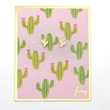 Foxy Originals Cactus Earrings, Gold