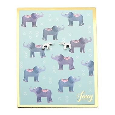 Foxy Originals – Boucles d'oreilles éléphant, argenté