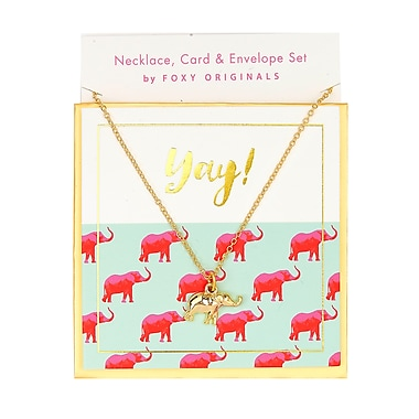 Foxy Originals – Collier « Yay » de la collection Sweet Notes, doré