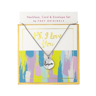 Foxy Originals Sweet Notes Love Necklace, Silver
