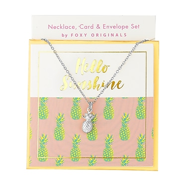 Foxy Originals Sweet Notes Hello Sunshine Necklace, Silver