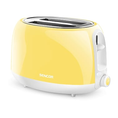 Sencor 2-Slice Electric Toaster, Sunflower Yellow (STS 36YL-NAA1)