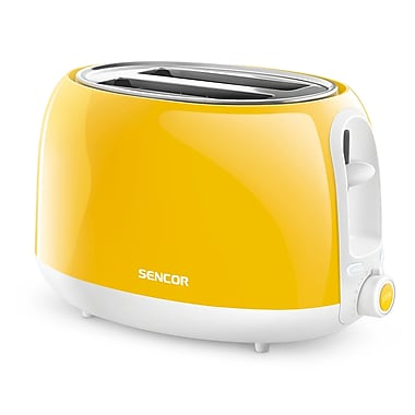 Sencor 2-Slice Electric Toaster, Yellow (STS 2706YL-NAA1)