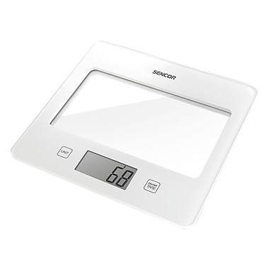 Sencor Digital Kitchen Scale with LCD Display, White (SKS 5020WH-NA)