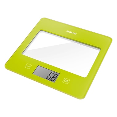 Sencor Digital Kitchen Scale with LCD Display, Green (SKS 5021GR-NA)