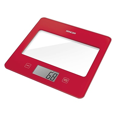 Sencor Digital Kitchen Scale with LCD Display, Red (SKS 5024RD-NA)