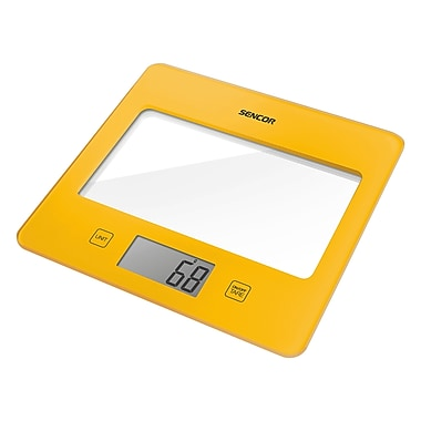 Sencor Digital Kitchen Scale with LCD Display, Yellow (SKS 5026YL-NA)
