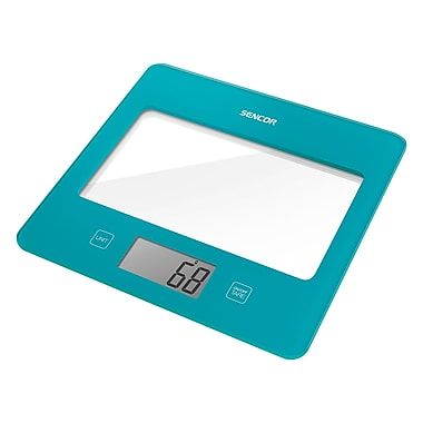 Sencor Digital Kitchen Scale with LCD Display, Turquoise (SKS 5027TQ-NA)