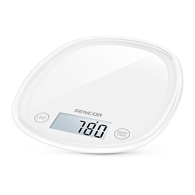 Sencor Digital Kitchen Scale with LCD Display, Snowdrop White (SKS 30WH-NA)