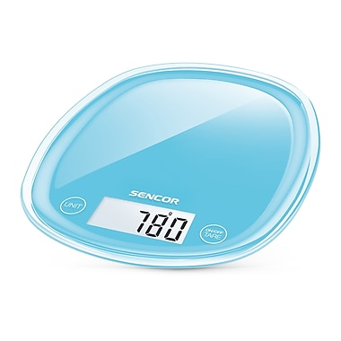 Sencor Digital Kitchen Scale with LCD Display, Forget-Me-Not Blue (SKS 32BL-NA)