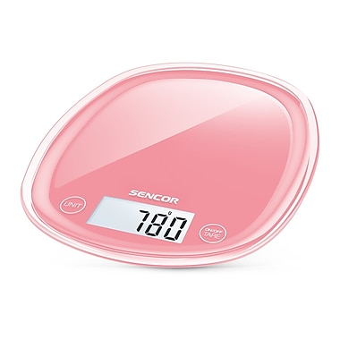 Sencor Digital Kitchen Scale with LCD Display, Coral Red (SKS 34RD-NA)
